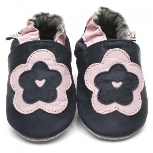 black-big-flower-shoes