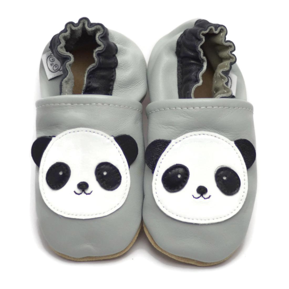 Grijze Slofjes Met Panda Panda Feet